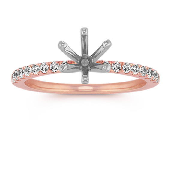 Round Diamond Engagement Ring in 14k Rose Gold (Sz 4)