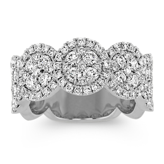 Round Diamond Fashion Ring in 14k White Gold