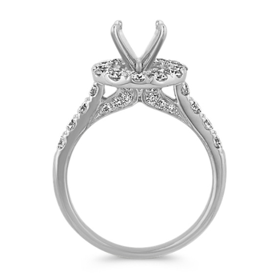 Round Diamond Halo Engagement Ring image