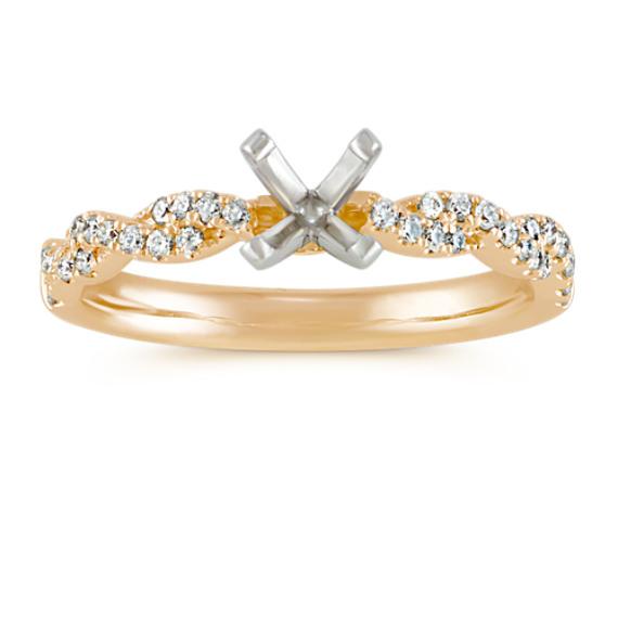 Round Diamond Infinity Engagement Ring