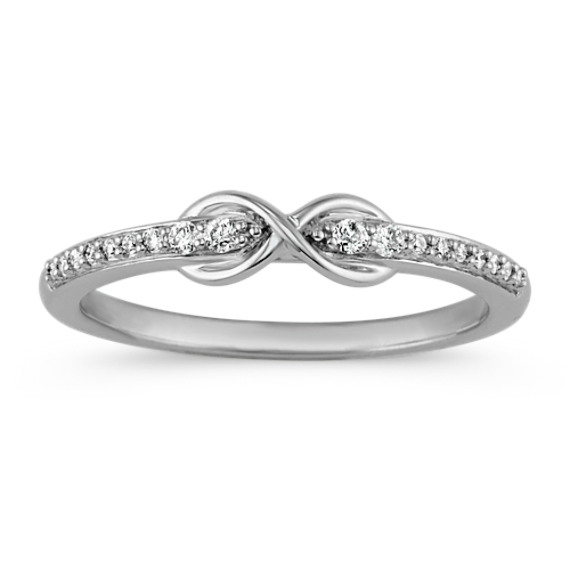 Round Diamond Infinity Sterling Silver Ring