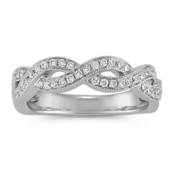 Round Diamond Infinity Swirl Platinum Ring