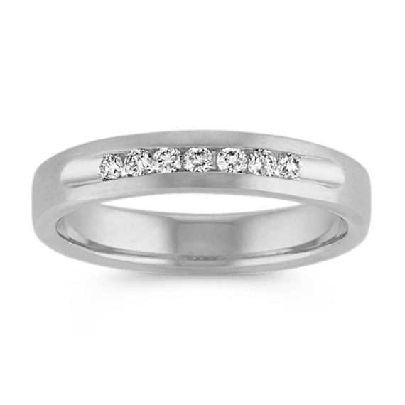 Round Diamond Ring in 14k White Gold (4.5mm)