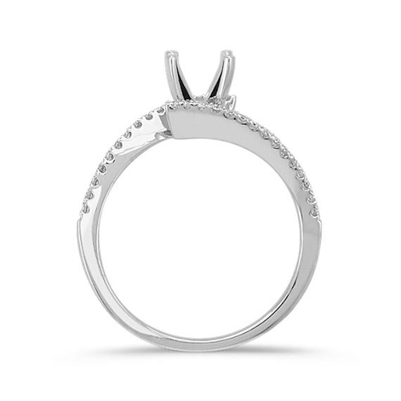 Round Diamond Ring in 14k White Gold image