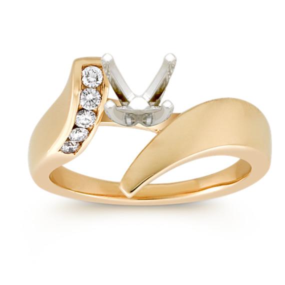 Round Diamond Ring in 14k Yellow Gold