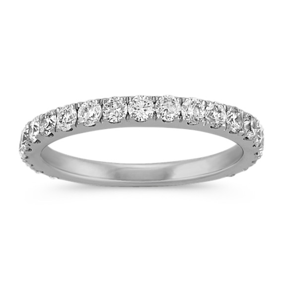 Round Diamond Ring with Pave-Setting
