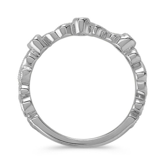 Round Diamond Sterling Silver Stackable Ring image