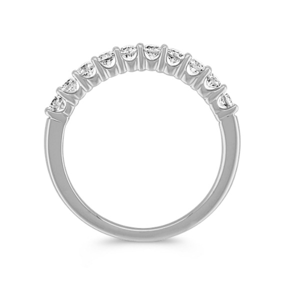 Round Diamond Ten-Stone Wedding Band in White Gold image