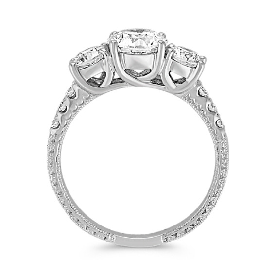 Round Diamond Three-Stone Anniversary Band image