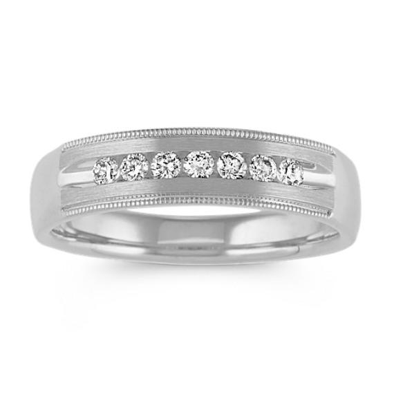Round Diamond Wedding Band (5.5mm)