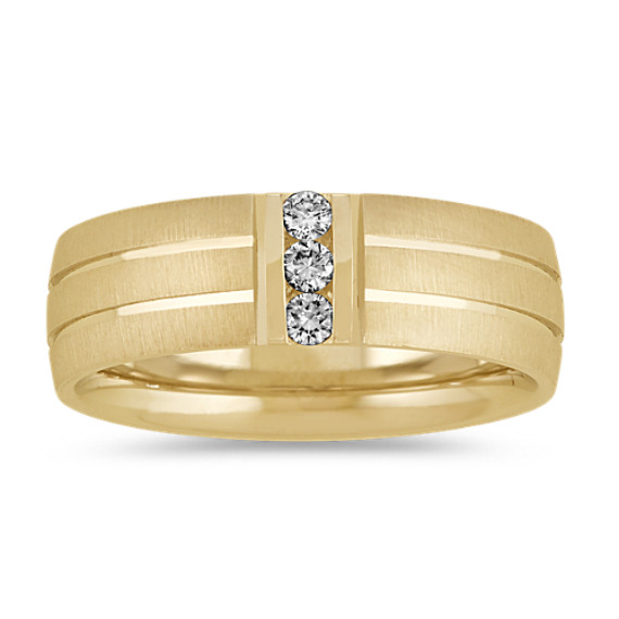 Round Diamond Wedding Band in 14k Yellow Gold (7mm)