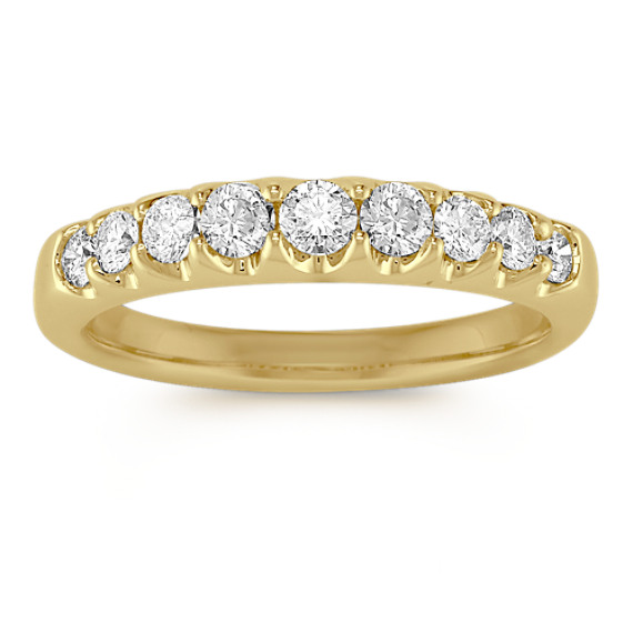 Round Diamond Wedding Band in 14k Yellow Gold