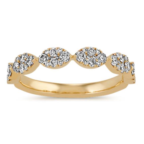 Pavé-Set Diamond Wedding Band in 14k Yellow Gold