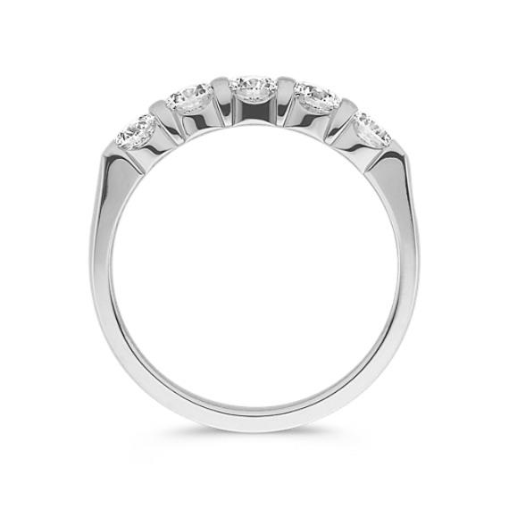 Round Diamond Wedding Band in Platinum image
