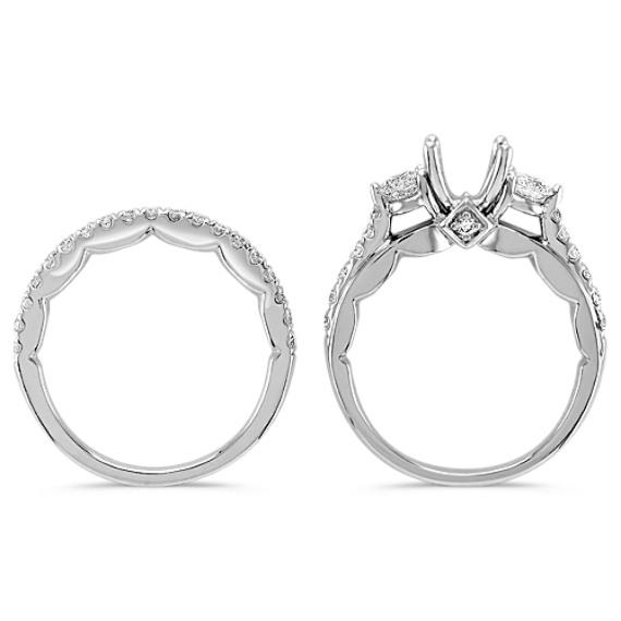 Round Diamond Wedding Set image