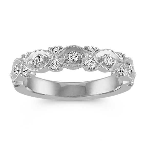 wedding channel bands set round eternity diamond milgrain pl platinum band