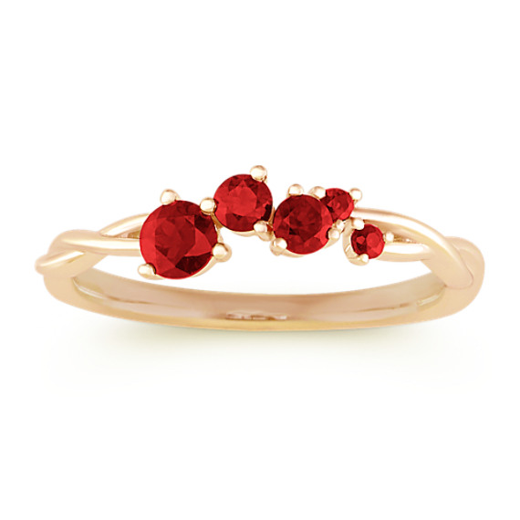 Stackable Ruby Ring in 14k Yellow Gold