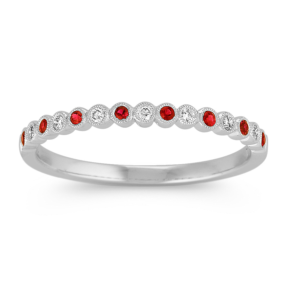 p diamond m round rings wedding band ruby shane co bands anniversary and