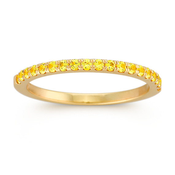 Round Yellow Shire Wedding Band