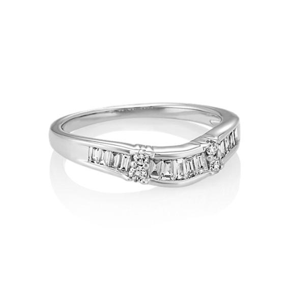 Vertical Baguette Diamond Wedding Band