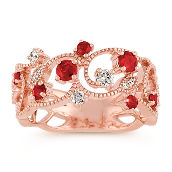 Ruby and Diamond Vintage Ring