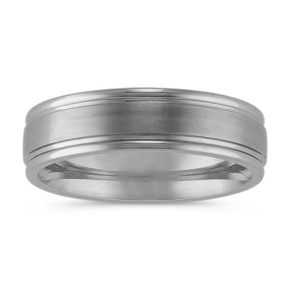 Satin Finished Comfort Fit Titanium Ring (6mm)