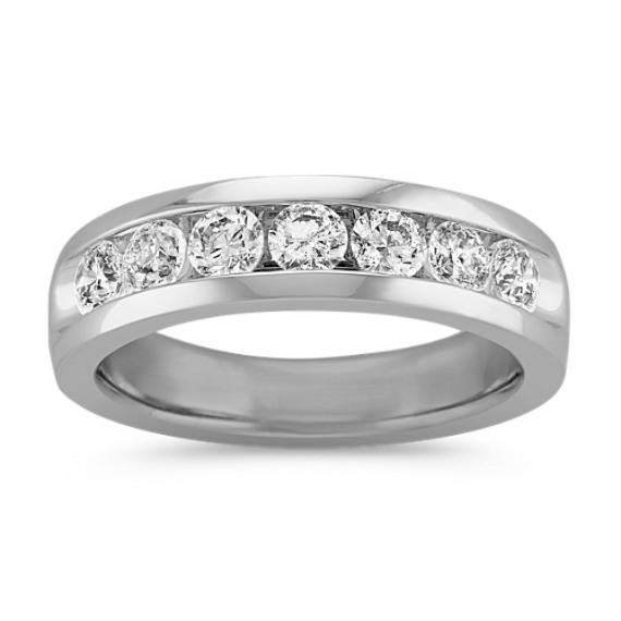 Seven-Stone Round Diamond Ring with Channel-Setting
