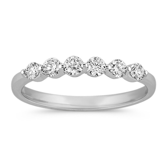 Six-Stone Round Diamond Wedding Band