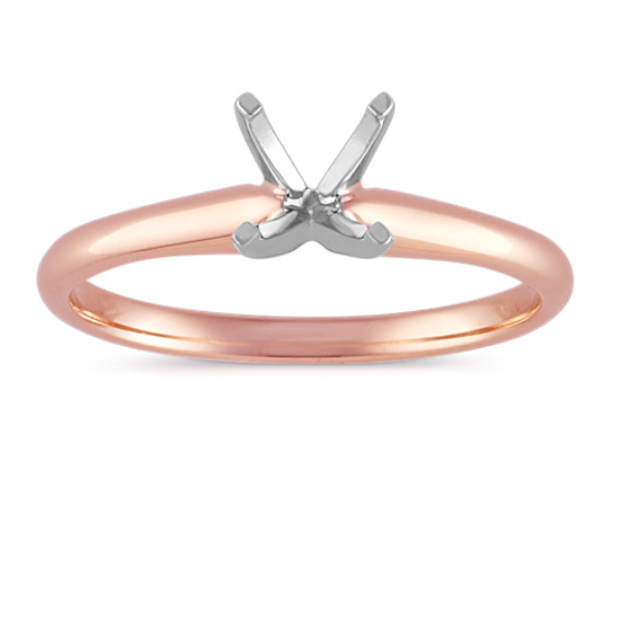 Solitaire Engagement Ring in 14k Rose Gold