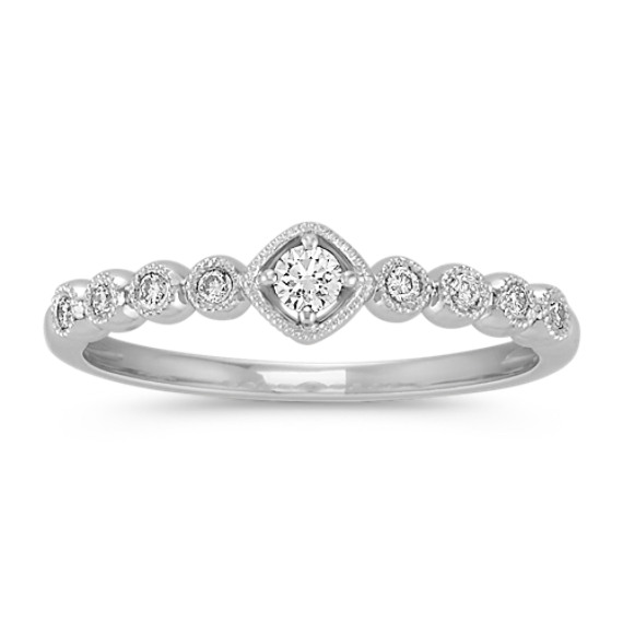 Stackable Bezel Set Round Diamond Ring