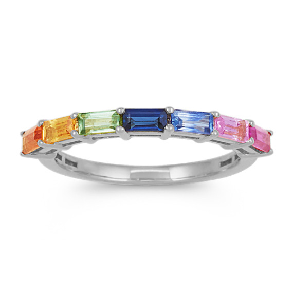 Stackable Multi-Colored Sapphire Ring
