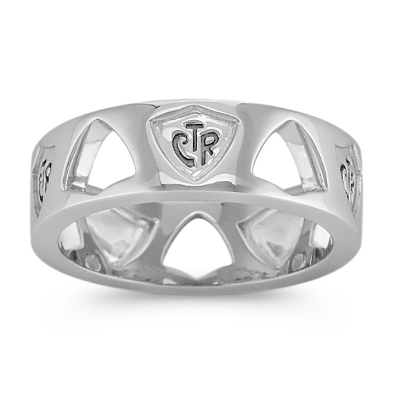 Sterling Silver CTR Ring for Him (7.5mm)