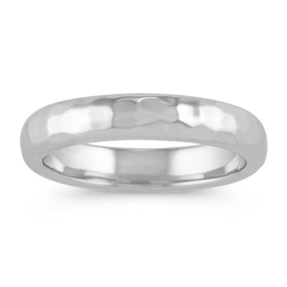 Sterling Silver Ring with Hammered Finish