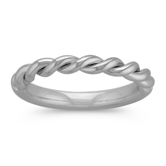 Sterling Silver Rope Stackable Ring
