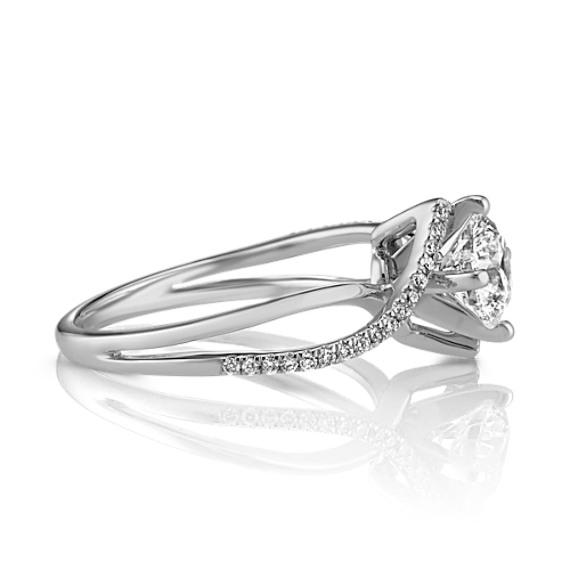 Swirl Diamond Engagement Ring Shane Co