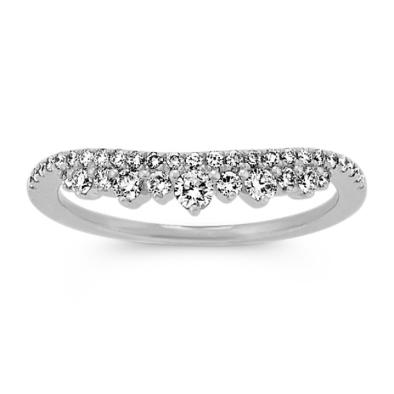 Pave-Set Wedding Band in 14k White Gold