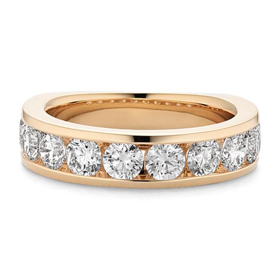 Ten-Stone Diamond Wedding Band with Channel-Setting