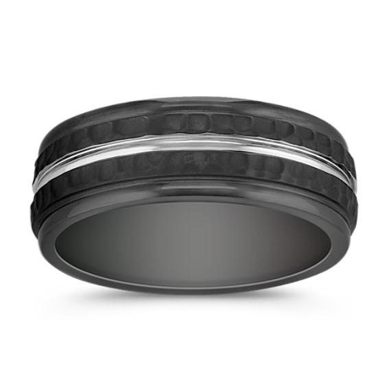 Textured Cobalt Comfort Fit Ring (8mm)