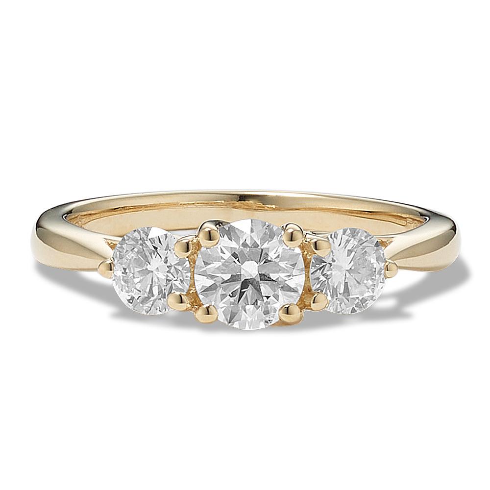 Three Stone Diamond Ring in 14k Yellow Gold  758f687739fd