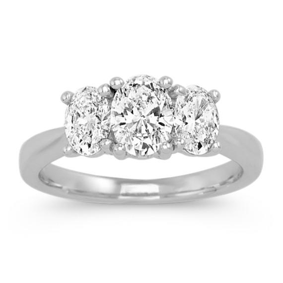 Three-Stone Oval Diamond Ring