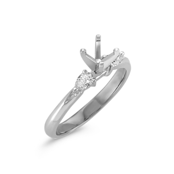 wedding pear engagement shaped diamond stone ring rings