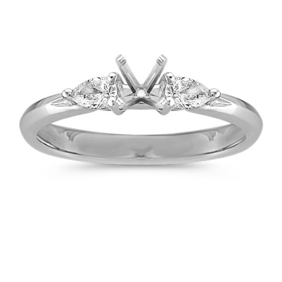 Three-Stone Pear-Shaped Diamond Engagement Ring