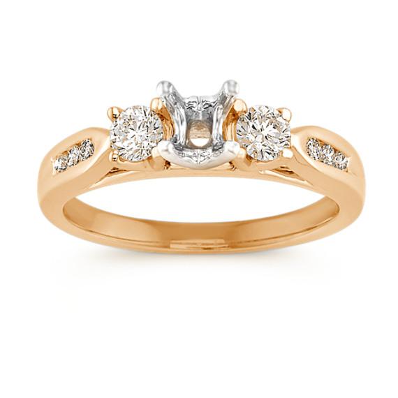 Three-Stone Round Diamond Engagement Ring