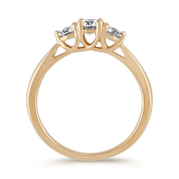 Three-Stone Round Diamond Ring in 14k Yellow Gold image