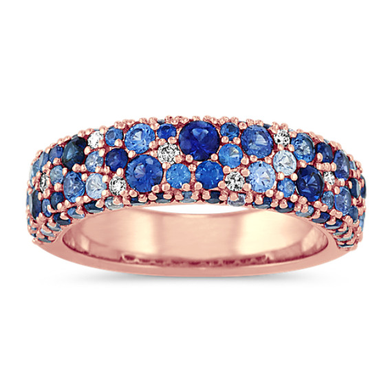 Traditional Blue Sapphire and Diamond Ring