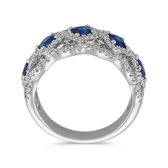 Traditional Sapphire and Diamond Ring image
