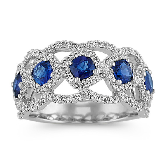 Traditional Sapphire and Diamond Ring