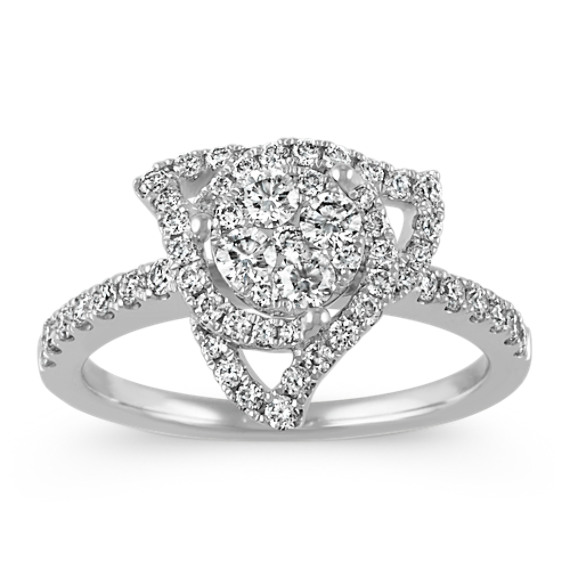 Triangular Diamond Cluster Ring
