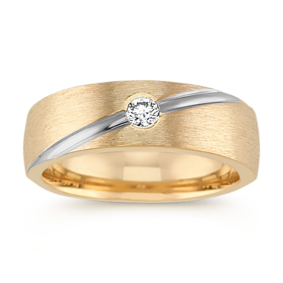 Two-Tone Bezel-Set Diamond Ring (7mm)