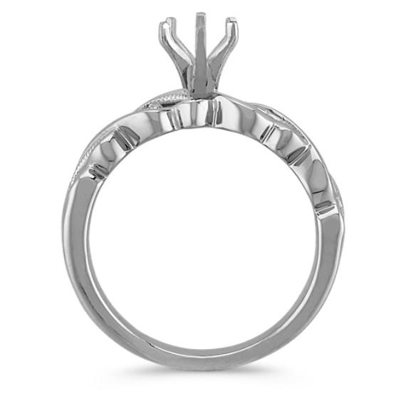 Vintage 14k White Gold Fashion Ring with Milgrain Detailing image